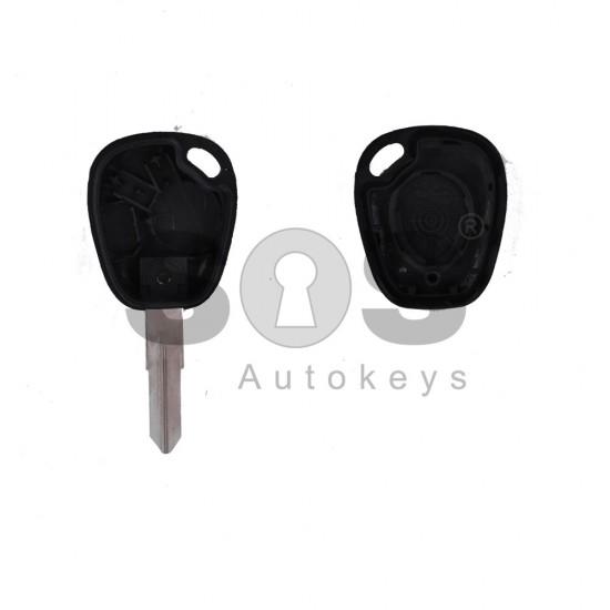Празна кутийка за ключ за Renault Megane с 1 бутон