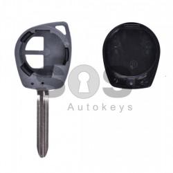 Празна кутийка за ключ за Suzuki с 2 бутона