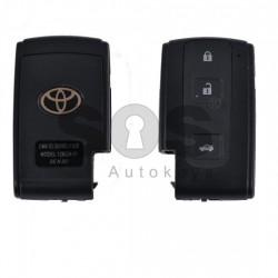 Празна смарт кутийка за ключ за Toyota Verso CH-R с 3 бутона