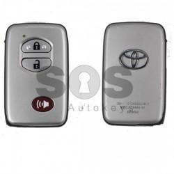 Празна смарт кутийка за ключ за Toyota с 3 бутона