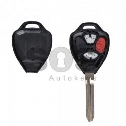 Празна кутийка за ключ за Toyota с 2 + 1 бутона - TOY 43