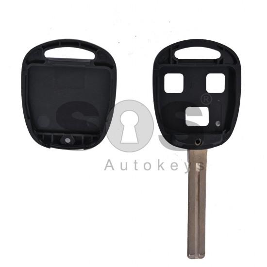 Празна кутийка за ключ за Toyota с 3 бутона - TOY 48