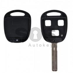 Празна кутийка за ключ за Toyota с 3 бутона - TOY 40