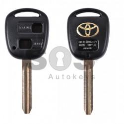Празна кутийка за ключ за Toyota Rav4 с 2 бутона - TOY 43