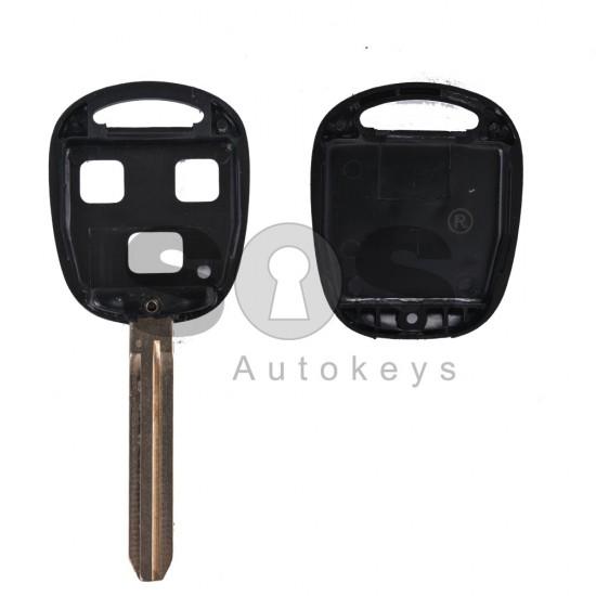 Празна кутийка за ключ за Toyota с 3 бутона - TOY 43