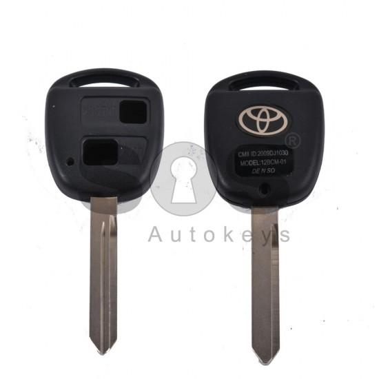 Празна кутийка за ключ за Toyota с 2 бутона
