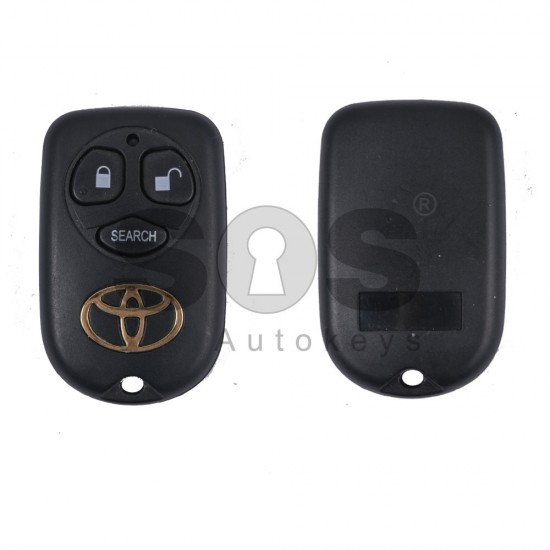 Празно дистанционно за ключ за Toyota с 3 бутона