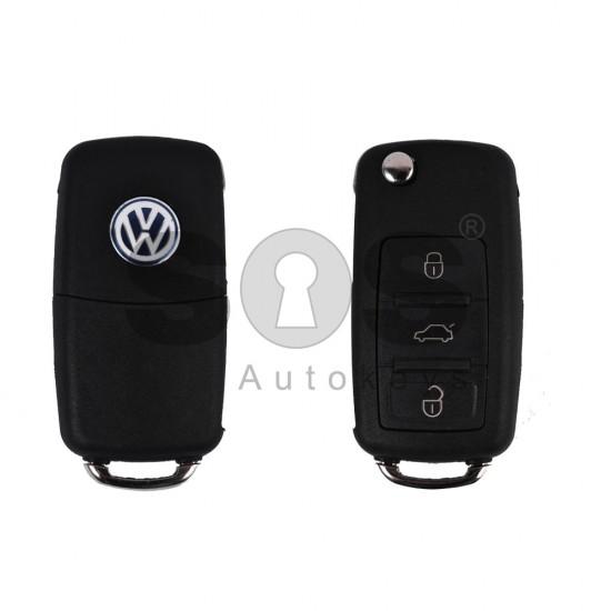Празна кутийка за ключ за VW Touareg с 3 бутона