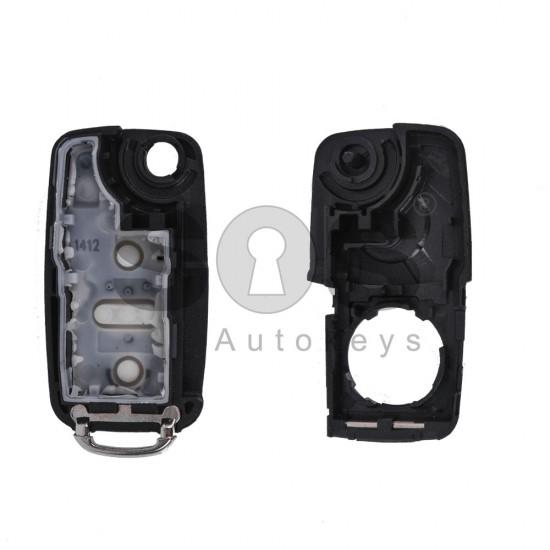 Празна кутийка за ключ за VW UDS/Golf 6/Polo/Caddy с 3 бутона - HU 66