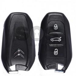 Кутийка за ключ (смарт) за Citroen / Peugeot с 3 бутона - VA2 / HU83
