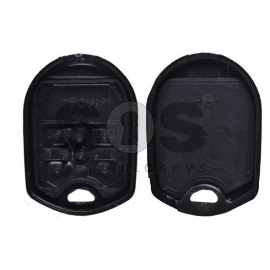 Кутийка за ключ (стандартен) за Ford Mustang 3+1 бутона - FO24