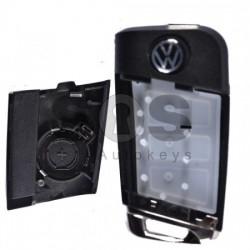 Кутийка за ключ за VW Golf с 3 бутона HU66