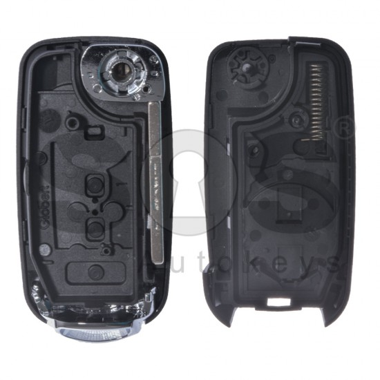 Кутийка за ключ (сгъваем) за  Fiat с 4 бутона - SIP22 - с накрайник