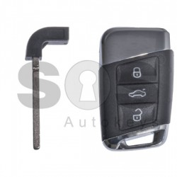 Кутийка за ключ за Volkswagen Touran с 3 бутона HU162T с блейд