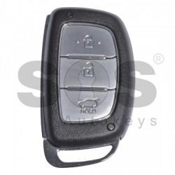 Кутийка за ключ (смарт) за Hyundai с 3 бутона - HY22 - с лого