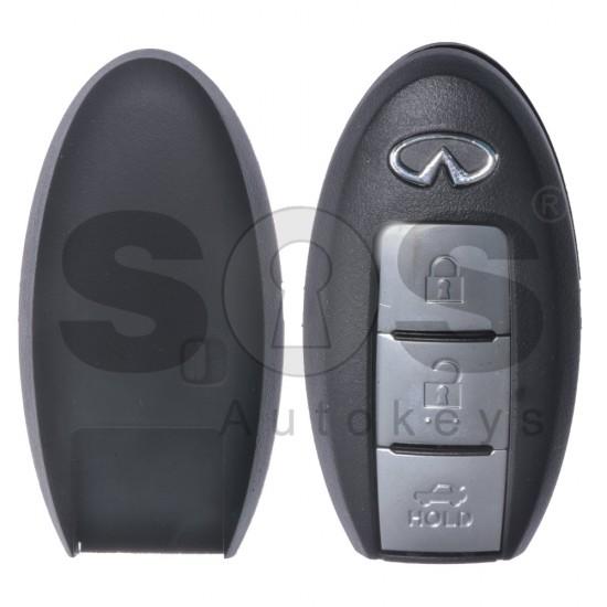 Кутийка за ключ (смарт) за Infiniti с 3 бутона - NSN14 - Без накрайник