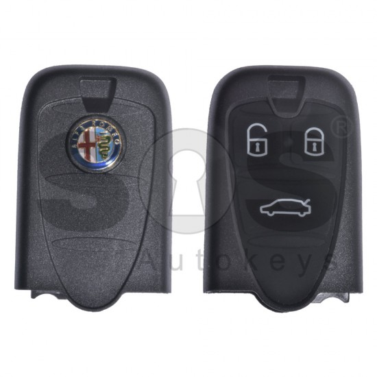 Кутийка за ключ (смарт) за Alfa Romeo с 3 бутона - SIP22 - държач за батерия