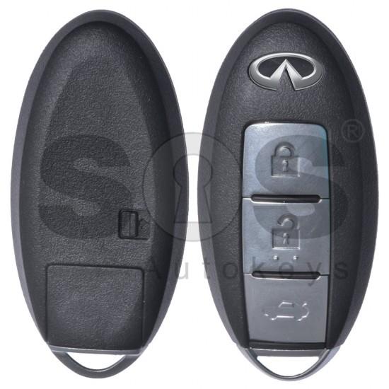Кутийка за ключ (смарт) за Infiniti с 3 бутона - NSN14 - С накрайник