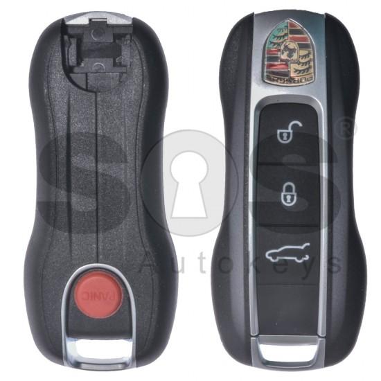 Кутийка за ключ (смарт) за Porsche с 3+1 бутона - HU66 - с накрайник