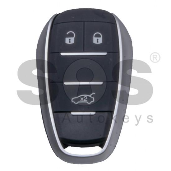 Кутийка за ключ Alfa Romeo Stelvio / Giulia с 3 бутона - SIP22 - държач за батерия
