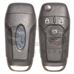 Оригинален сгъваем ключ за коли Ford Fusion с 3+1 бутона 315MHz HITAG PRO