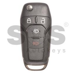 Сгъваем ключ за коли Ford Fusion с 3+1 бутона 315MHz HITAG PRO