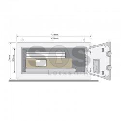 Малък сейф за дома Yale YLG/200/DB1