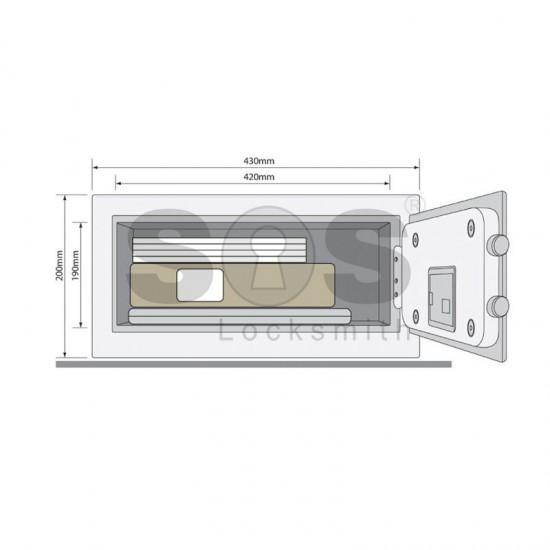 Стоманен сейф за ценности Yale YLV/200/DB1