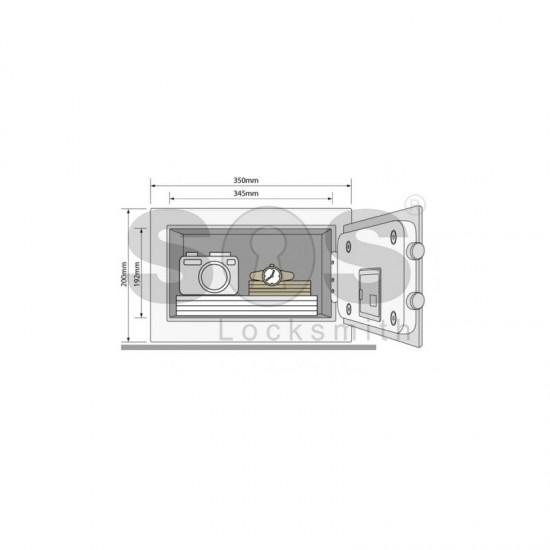 Компактен сейф за ценности Yale YSB/200/EB1