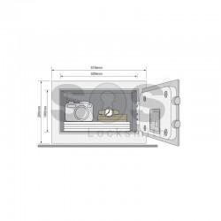 Малък сейф за хотел Yale YSG/200/DB1