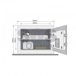 Стоманен електронен сейф Yale YSM/250/EG1