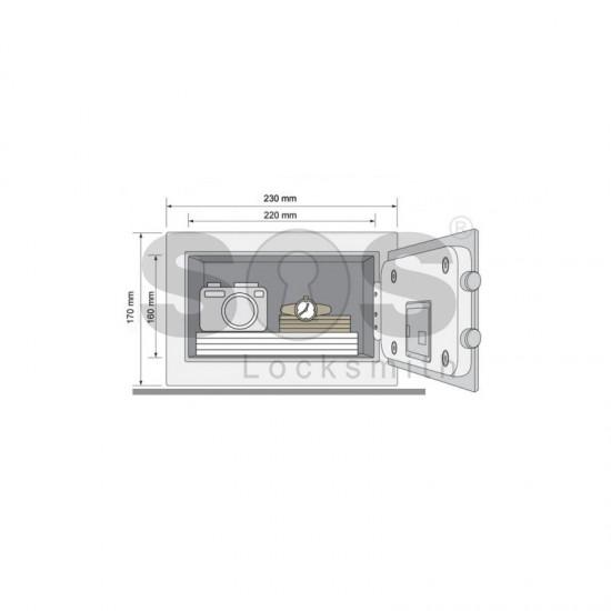 Мини сейф за ценности Yale YSV/170/DB1
