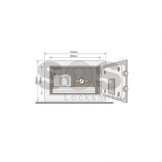 Компактен сейф за ценности Yale YSV/200/DB1