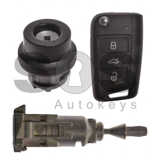 Комплект за Skoda с 3 бутона 433MHz MEGAMOS 88/AES