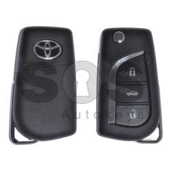 Оригинален сгъваем ключ за Toyota Aygo/Avensis с 3 бутона 433MHz Texas Crypto