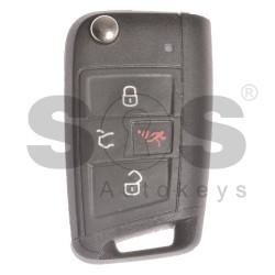 Оригинален флип сгъваем ключ за VW с 3+1 бутона 315MHz MEGAMOS 88 / AES
