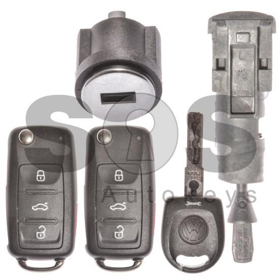 Оригинален сет комплект за VW UDS Megamos Crypto 88/ AES 315 Mhz