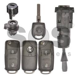 Комплект за Volkswagen Transporter/Amarok с 2 бутона Megamos Crypto 88/ AES
