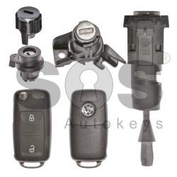 Оригинален сет комплект за VW UDS/MQB 434 Mhz с 2 бутона