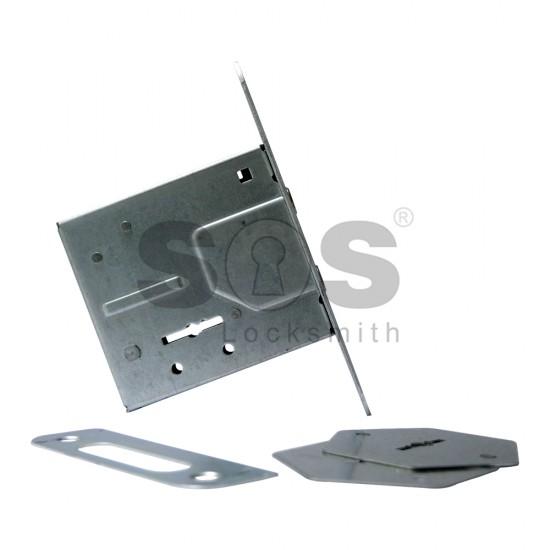 Допълнителна касова брава за врата Алкам с 3 ключа