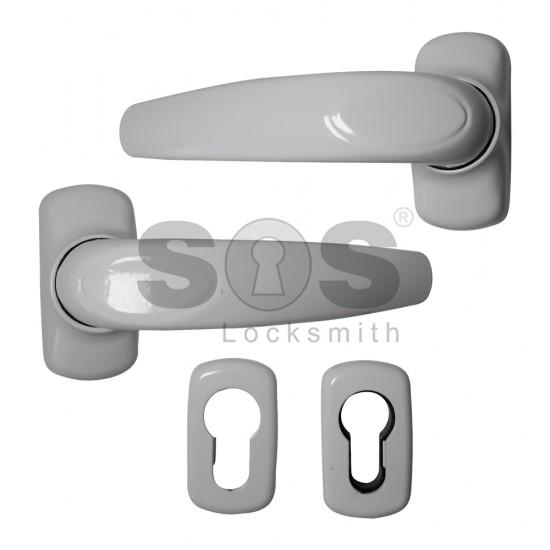 Дръжка за алуминиева дограма с розетки