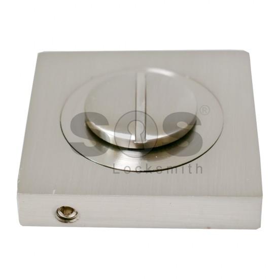 Комплект квадратна розетка за баня - инокс