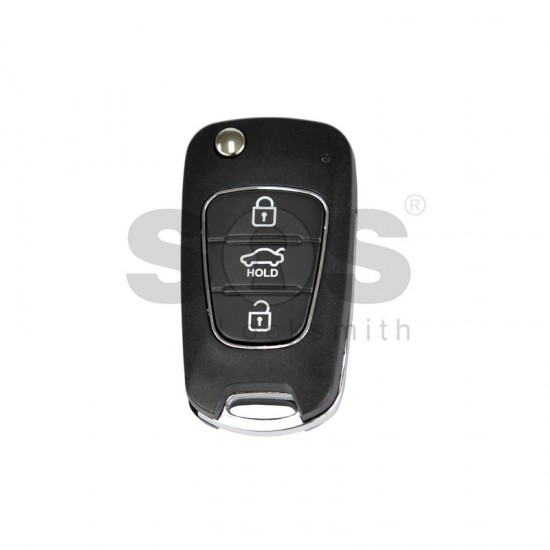 Универсално дистанционно за автомобил с 3 бутона - сгъваем ключ B04