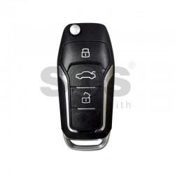 Универсално дистанционно за автомобил с 3 бутона - сгъваем ключ B12-3