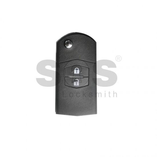 Универсално дистанционно за автомобил с 2 бутона - сгъваем ключ B14-2