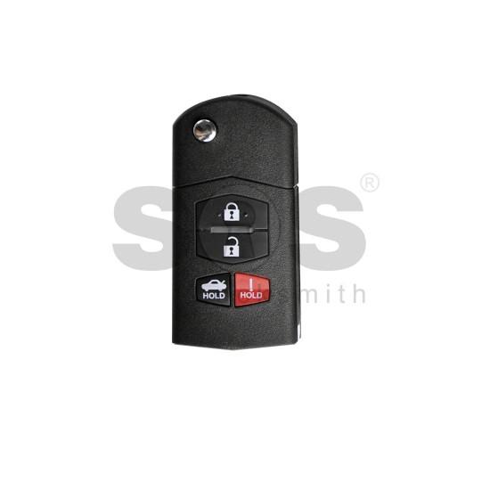 Универсално дистанционно за автомобил с 3+1 бутона - сгъваем ключ B14-3+1