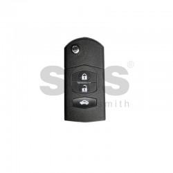 Универсално дистанционно за автомобил с 3 бутона - сгъваем ключ B14-3