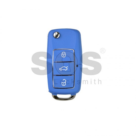 Универсално дистанционно за автомобил с 3 бутона - сгъваем ключ B01 Luxury