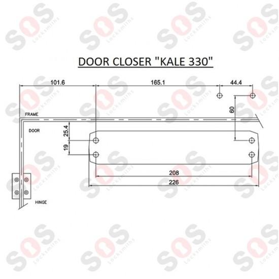 Автомат за дървени, метални и алуминиеви врати Kale Kilit 50-330